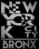 New york typography T shirt graphic . Vectors Stock Image