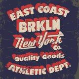 New York typography, t-shirt graphics Stock Image