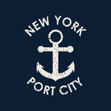 New york typography, t-shirt graphics. Vector illustration Stock Images