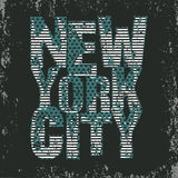 New York typography, t-shirt NY, design graphic stock illustration