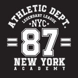 New York typography for t-shirt print. Sports, athletic t-shirt graphics. Vector Royalty Free Stock Photos