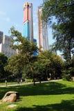 New York, U.S.A. - 30 agosto 2018: Central Park al giorno piovoso, New York fotografia stock libera da diritti