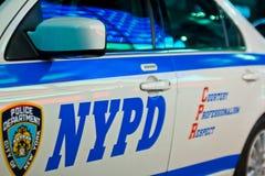 New York, U.S.A., agosto 2012: Volante della polizia di NYPD immagini stock
