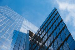 NEW YORK, U.S.A. - 22 GIUGNO 2017: Costruzioni corporative infinite, Midtown Manhattan, New York, Stati Uniti Fotografia Stock Libera da Diritti