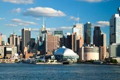 NEW YORK, U.S.A. - New York dei quartieri alti e nave intrepida Fotografia Stock Libera da Diritti