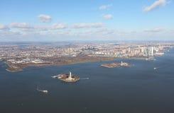 New York und Jersey von oben, USA Stockbild