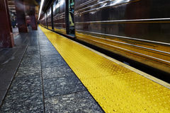 New York underground train Royalty Free Stock Photo