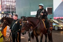 NYC Police officers on horseback royalty free stock images