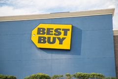 Best Buy store front in New York. stock images