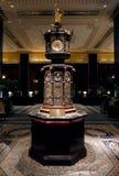 NEW YORK, UNITED STATES. AUGUST 24TH 2016. Waldorf Astoria clock. In reception, Waldorf Astoria Hotel, Park Avenue, Manhattan stock image