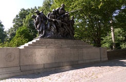 NEW YORK, UNITED STATES - AUGUST 25th, 2016: WWI memorial for the 7th Regiment of the New York Militia - US 107TH, New York. WWI memorial for the 7th Regiment of Royalty Free Stock Photo