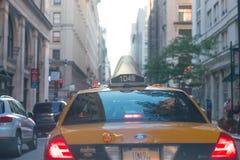 Taxi yellow cab on street stock photo