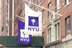 NYU Flags Royalty Free Stock Image