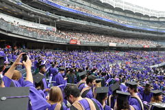 New York University (NYU) 181st Commencement Ceremony Stock Photo