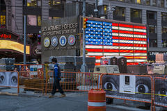 NEW YORK, US - NOVEMBER 25: Army recruitment centre in Times Squ Royalty Free Stock Photo