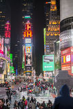 NEW YORK, US - NOVEMBER 22: Busy Times Square at night. November Royalty Free Stock Images