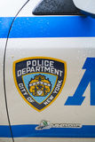 NEW YORK, US - NOVEMBER 22: Detail of door of New York Police ca Royalty Free Stock Photo