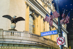 NEW YORK, US - NOVEMBER 26: Detail of entrance to the Grand Cent Stock Image