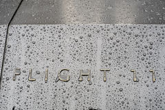 NEW YORK, US - NOVEMBER 22: Detail of 9/11 memorial memorial in Royalty Free Stock Images