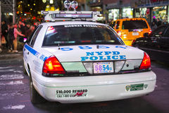 NEW YORK, US - NOVEMBER 22: Detail of rear of New York Police ca Stock Images