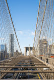 NEW YORK, US - NOVEMBER 24: High angle shot of cars crossing Bro Royalty Free Stock Photo