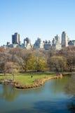 NEW YORK, US - NOVEMBER 23: Manhattan skyline with Central Park Stock Photo