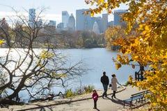 NEW YORK, US - NOVEMBER 23: Manhattan skyline with Central Park Stock Photos
