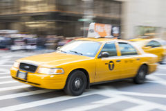 NEW YORK, US - NOVEMBER 23: Motion blurred shot of famous New Yo Stock Image