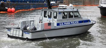 New York US Park Police in action Royalty Free Stock Photo