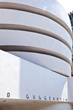 Facade of the Guggenheim Museum Stock Photography