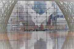 New York, New York/USA - 02 19 2018: Äußeres der World Trade Center-Station WTC Transport-Nabe lizenzfreies stockfoto