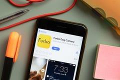 Free New York, USA - 29 September 2020: Furbo Dog Camera Mobile App Logo On Phone Screen Close Up, Illustrative Editorial Stock Photo - 198318880