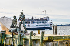 New York, USA. American Merchant Mariners Memorial in Battery Park. Stock Photography