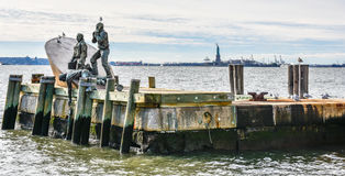 New York, USA. American Merchant Mariners Memorial in Battery Park. Royalty Free Stock Image