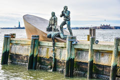 New York, USA Amerikanischer Kaufmann Mariners Memorial im Batterie-Park Lizenzfreies Stockbild