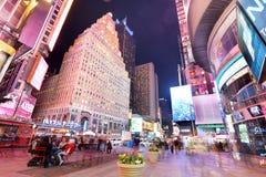 NEW YORK, USA - 12. APRIL: Die Architektur der berühmten Zeiten S Lizenzfreie Stockfotos