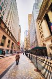 Federal Hall on Wall Street Lower Manhattan. New York, USA - April 25, 2015: Federal Hall on Wall Street in Lower Manhattan, New York City, USA. It was US Custom stock photography