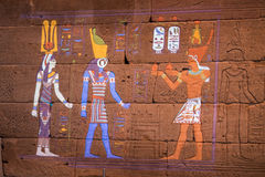 NEW YORK, USA - APRIL 22 2017 - Using Projected Light to Restore Color in Dendur Temple Royalty Free Stock Photography