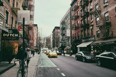 Soho street view in New York City royalty free stock photos