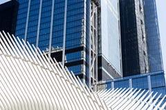 NEW YORK, USA - 4. AUGUST 2017: Äußeres von Santiago Calatrava-` Lizenzfreie Stockfotografie