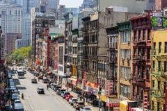 NEW YORK, USA - 5. AUGUST 2017: Chinatown in Manhattan auf Augus Lizenzfreie Stockfotos