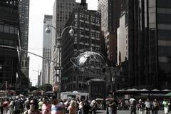 NEW YORK, USA - 31. August 2018: New York City tagsüber New York ist die einwohnerstarkste Stadt in den Vereinigten Staaten lizenzfreie stockbilder