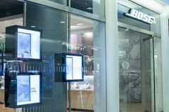 NEW YORK, USA - August, 2018: Official Bose store at Oculus Shopping Center, New York. Bose Corporation is a privately. Held American corporation, based in stock photos