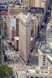 NEW YORK, USA - 6. AUGUST 2017: Plätteisen-Gebäudevogelperspektive O Lizenzfreie Stockfotografie