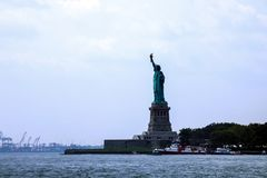 NEW YORK, USA - August 31, 2018: Statue of Liberty on Liberty Island. USA royalty free stock photo