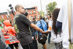 NEW YORK, USA - AUGUST 23, 2014: Thousands march in Staten Islan Royalty Free Stock Image
