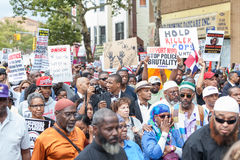 NEW YORK, USA - AUGUST 23, 2014: Thousands march in Staten Islan Stock Photo