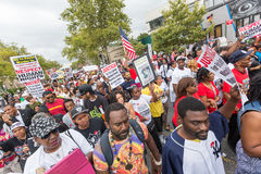 NEW YORK, USA - AUGUST 23, 2014: Thousands march in Staten Islan Stock Photos