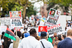 NEW YORK, USA - AUGUST 23, 2014: Thousands march in Staten Islan Royalty Free Stock Photography