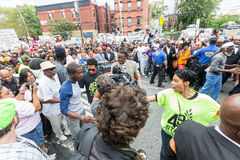NEW YORK, USA - AUGUST 23, 2014: Thousands march in Staten Islan Royalty Free Stock Photo